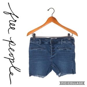 Free People | Cut Off Jean Shorts sz 27